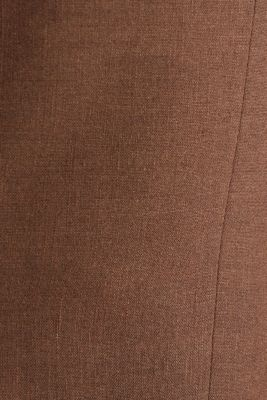 LINEN made of blended linen: mix + match tailored jacket, BROWN, detail