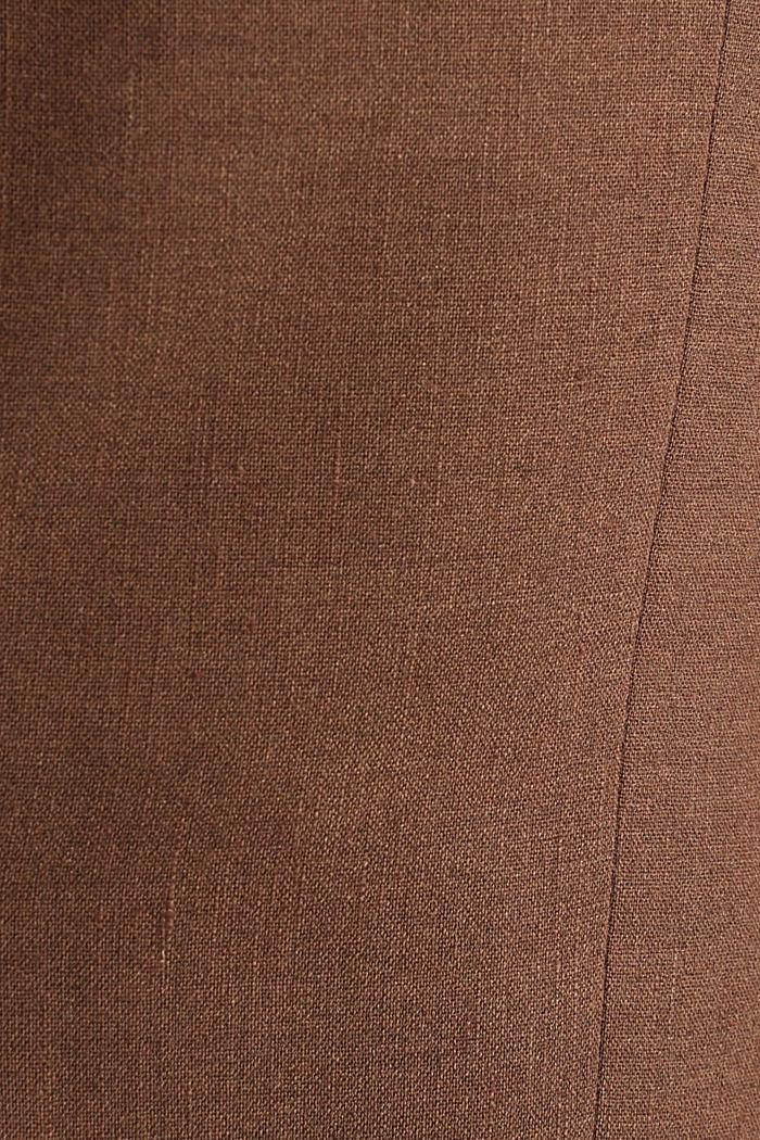 LINEN van een linnenmix: mix + match colbert, BROWN, detail image number 4