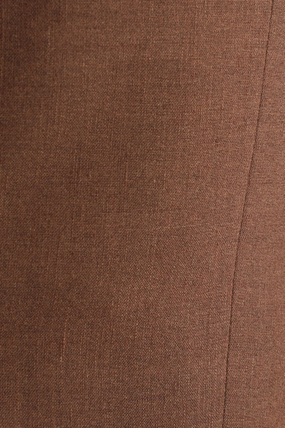 LINEN made of blended linen: mix + match tailored jacket, BROWN, detail image number 4