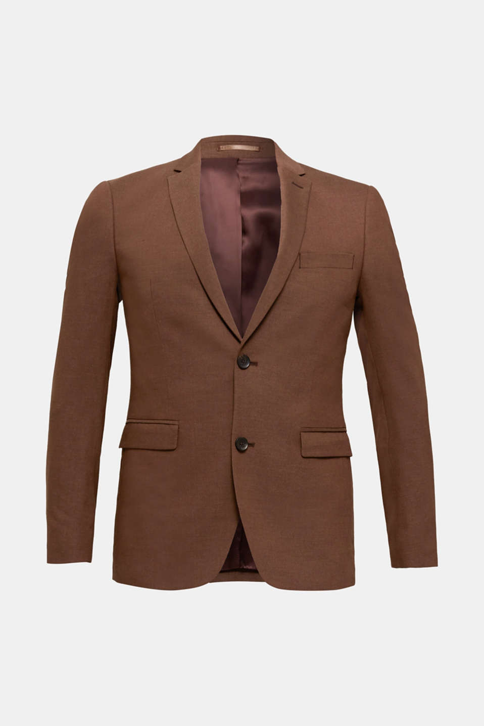 LINEN made of blended linen: mix + match tailored jacket, BROWN, detail image number 7