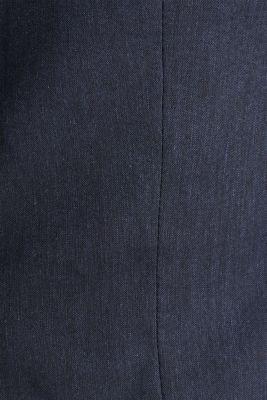 LINEN made of blended linen: mix + match tailored jacket, DARK BLUE, detail
