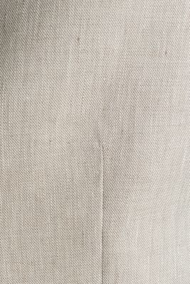 Waistcoat with end-on-end blended linen, SAND 5, detail