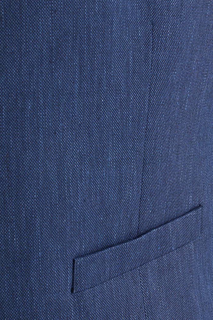 Waistcoat with end-on-end blended linen, DARK BLUE, detail image number 5