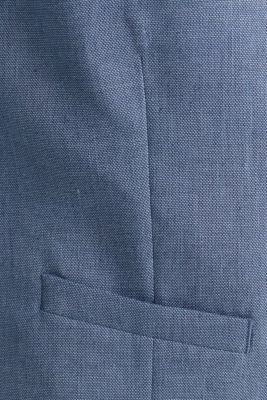 Waistcoat with end-on-end blended linen, BLUE 5, detail