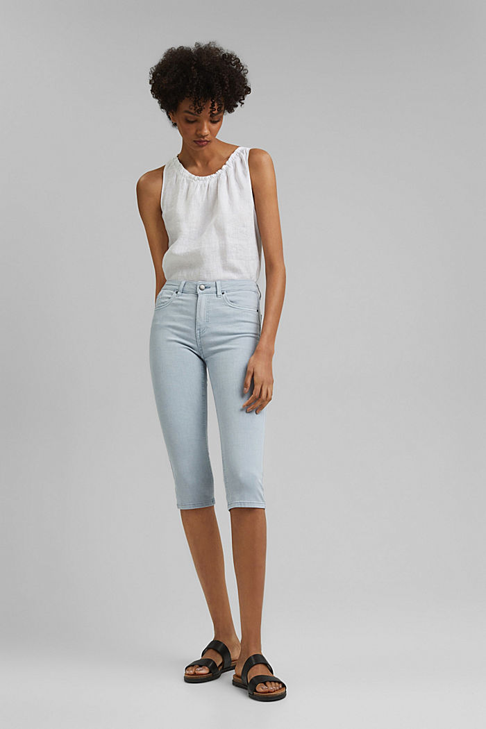 Capri trousers made of organic cotton, LIGHT BLUE LAVENDER, detail image number 7