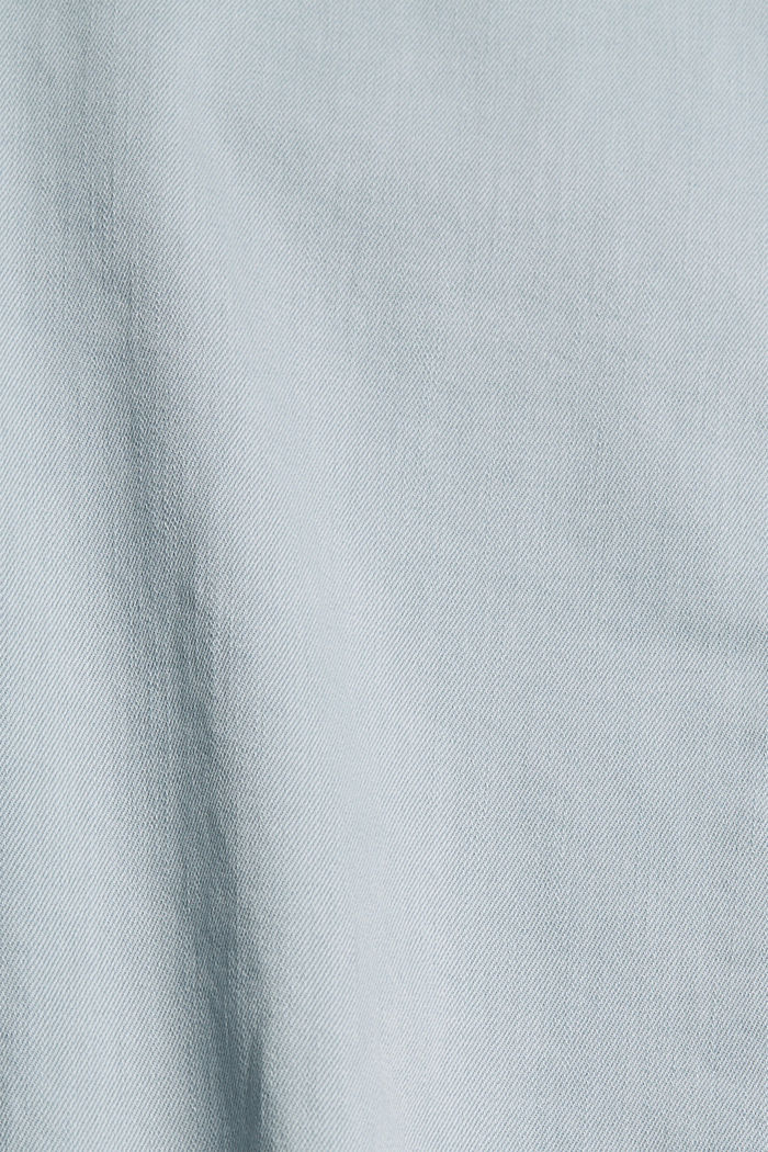 Capri trousers made of organic cotton, LIGHT BLUE LAVENDER, detail image number 4