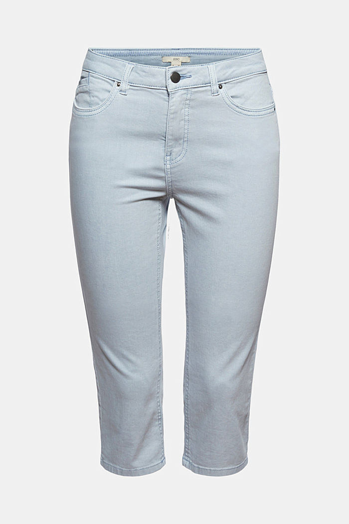 Capri trousers made of organic cotton, LIGHT BLUE LAVENDER, detail image number 8