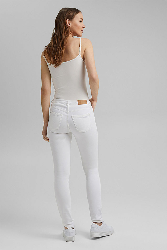 Stretch-Denim aus Organic Cotton, WHITE, detail image number 3