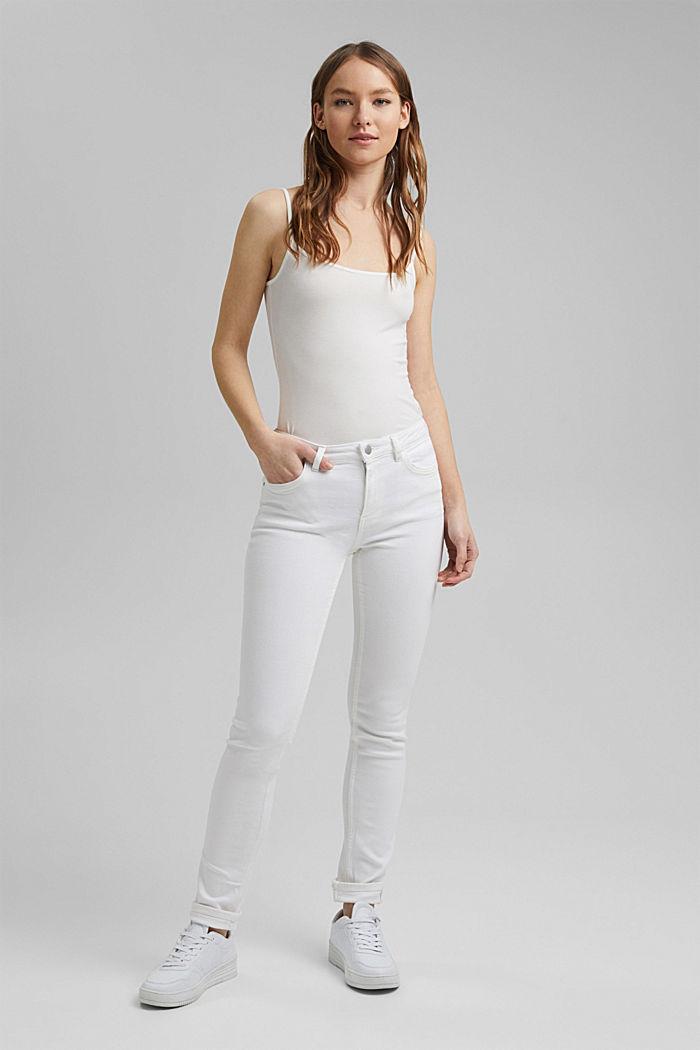 Stretch-Pants aus Organic Cotton, WHITE, detail image number 6