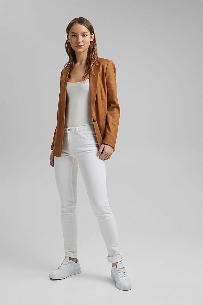 Stretch-Pants aus Organic Cotton, WHITE, detail image number 1