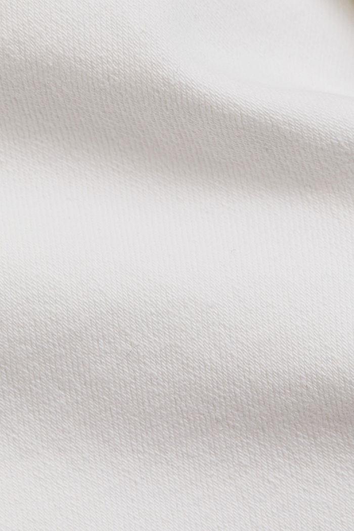 Stretch-Pants aus Organic Cotton, WHITE, detail image number 4