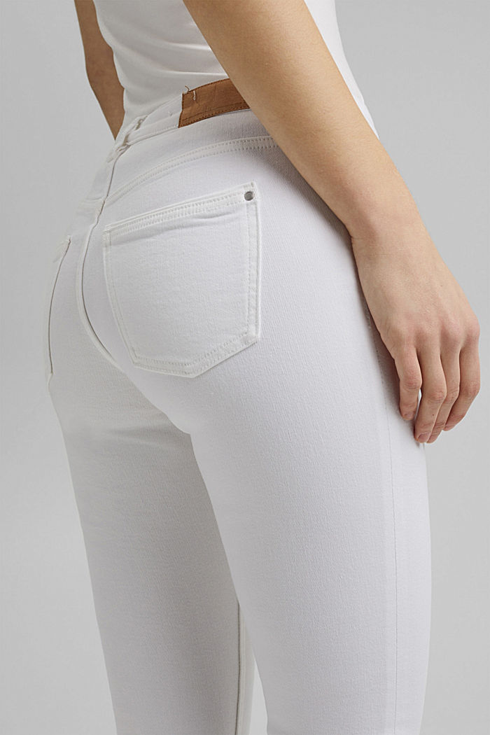Stretch-Denim aus Organic Cotton, WHITE, detail image number 5
