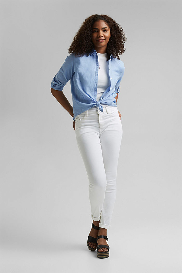 Stretch-Jeans aus Organic Cotton, WHITE, detail image number 0