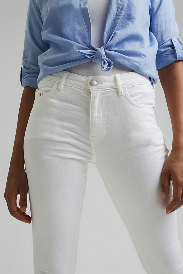 Stretch-Jeans aus Organic Cotton, WHITE, detail image number 2