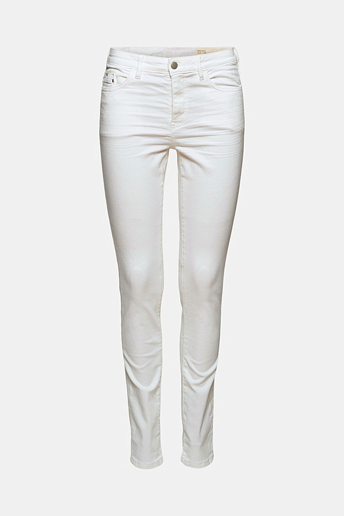 Stretch-Jeans aus Organic Cotton, WHITE, detail image number 6
