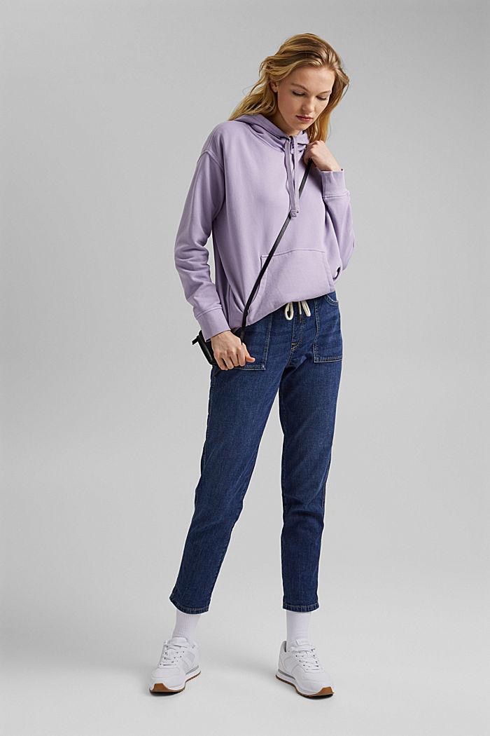 Linen/organic cotton: Tracksuit-style jeans