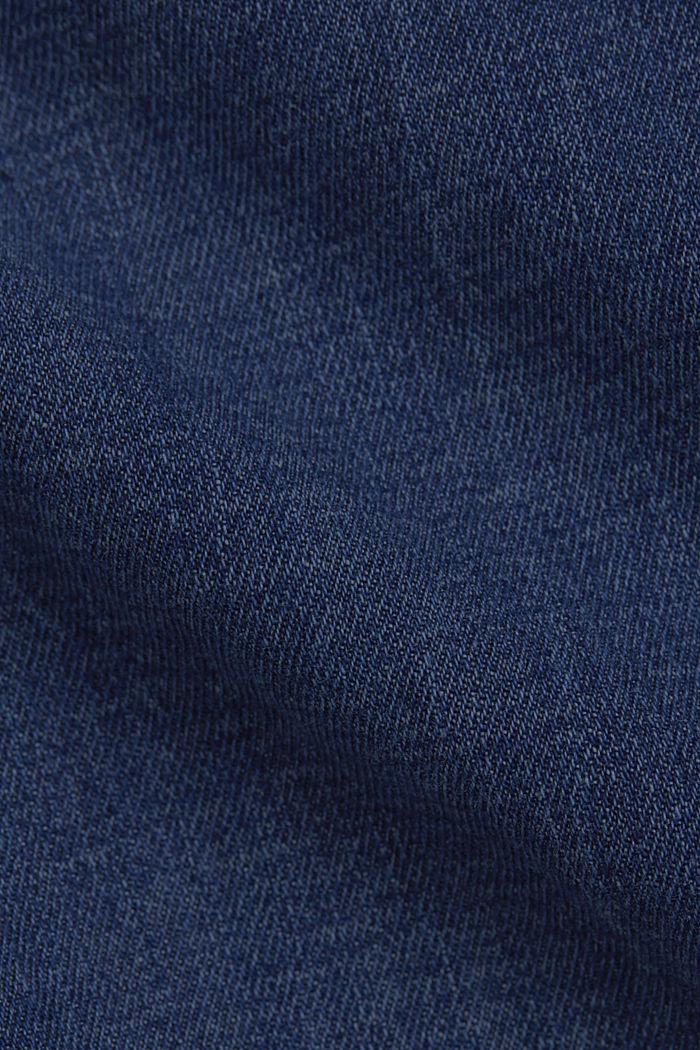 Linen/organic cotton: Tracksuit-style jeans, BLUE DARK WASHED, detail image number 4