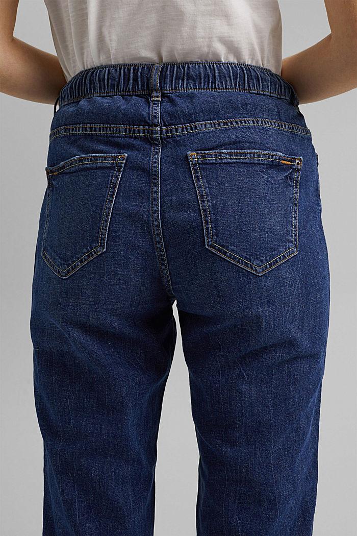Leinen/Organic Cotton: Jeans im Jogger-Fit, BLUE DARK WASHED, detail image number 5