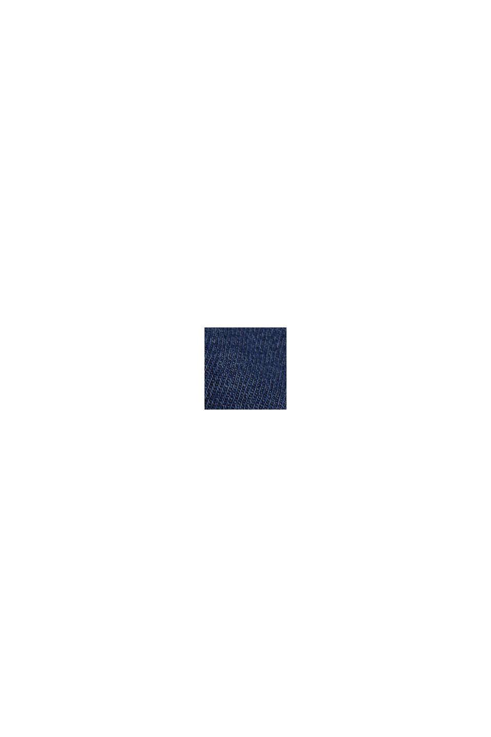 Lino y algodón ecológico: Vaqueros de corte deportivo, BLUE DARK WASHED, swatch