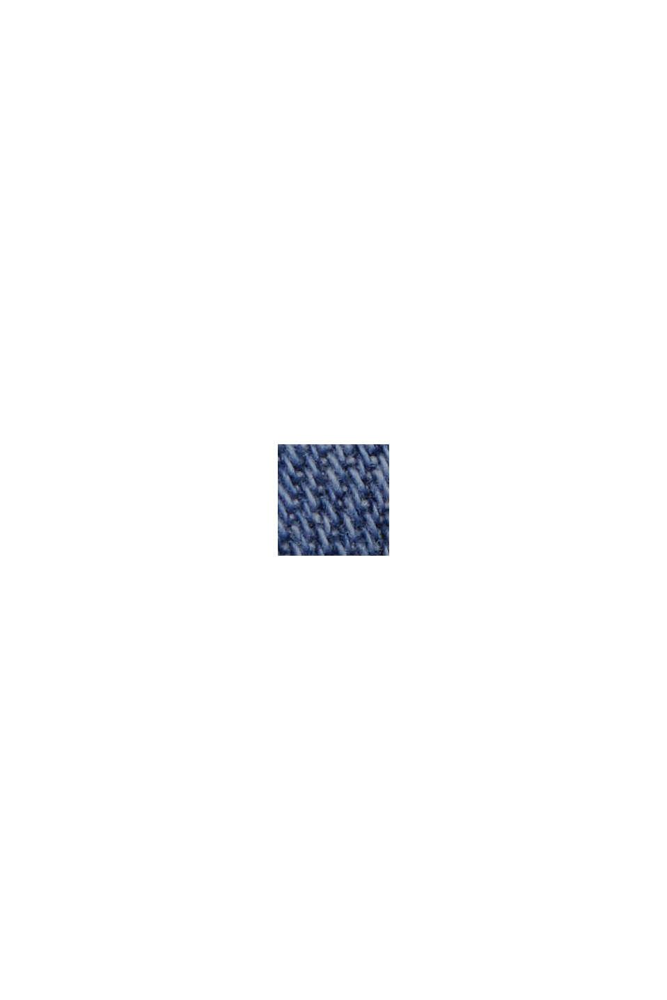 Lino y algodón ecológico: Vaqueros de corte deportivo, BLUE MEDIUM WASHED, swatch