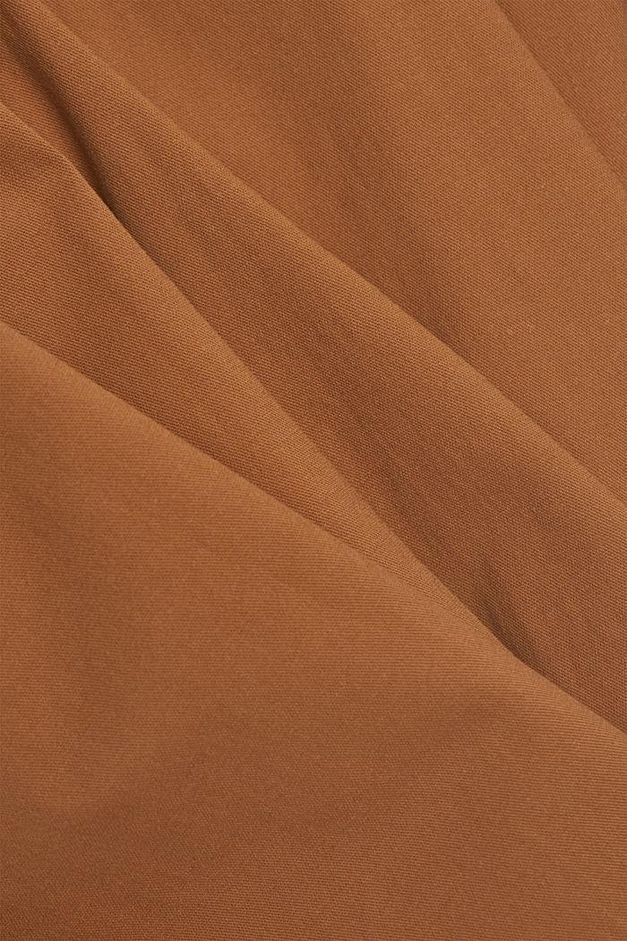 Linen blend: Paperbag culottes, CARAMEL, detail image number 4