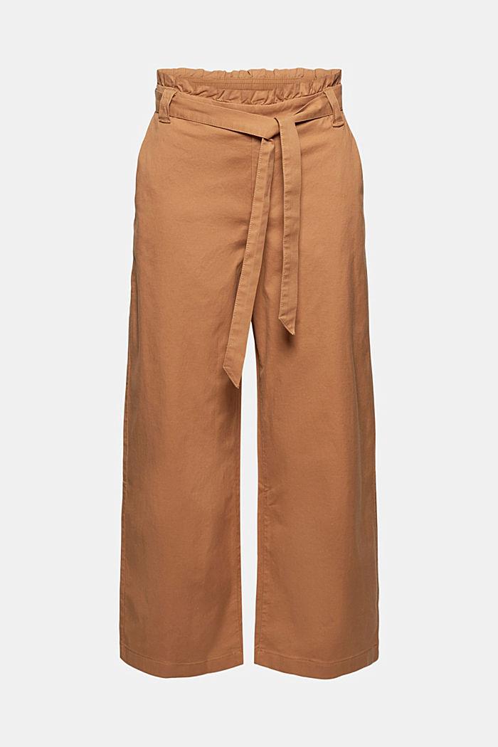 Linen blend: Paperbag culottes