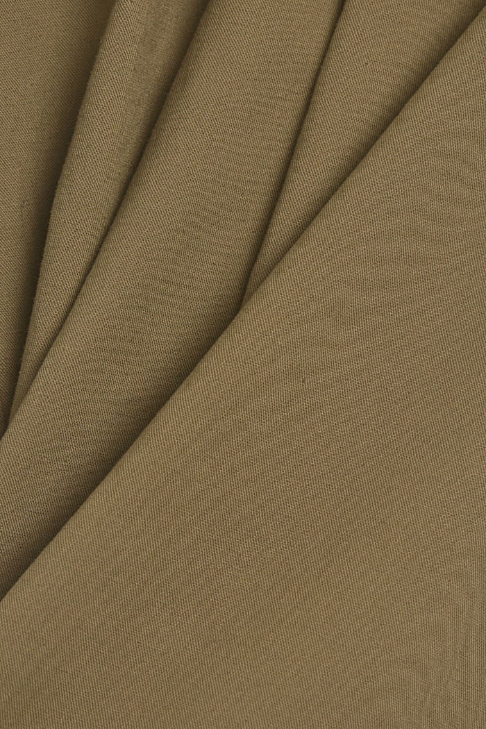 Mit Leinen: Paperbag-Culotte, LIGHT KHAKI, detail image number 4