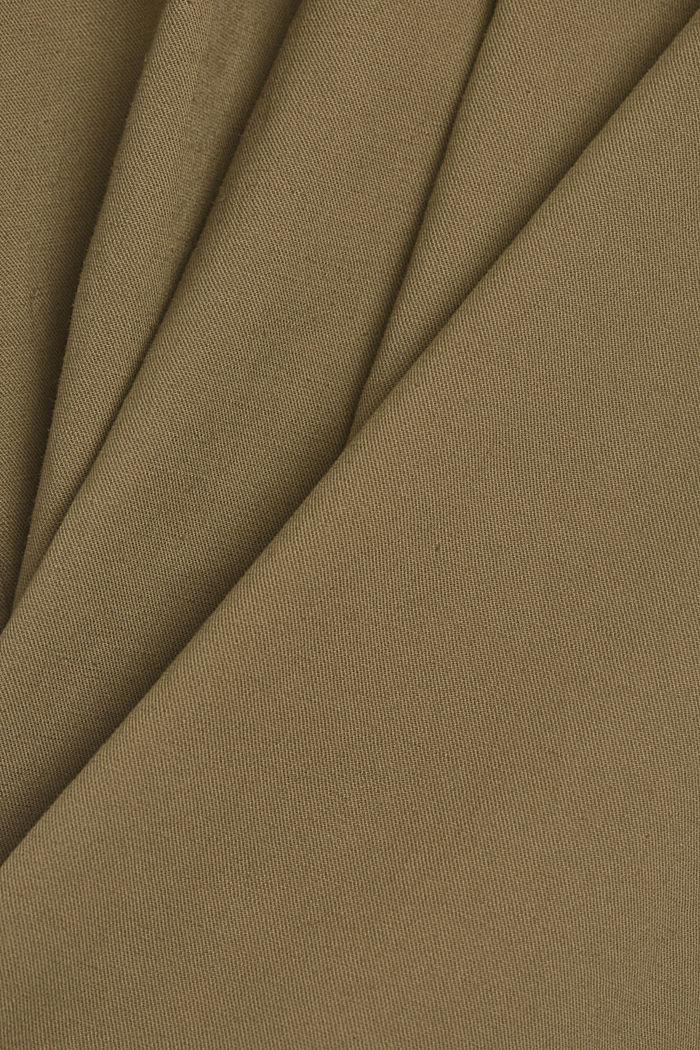 Linen blend: Paperbag culottes, LIGHT KHAKI, detail image number 4