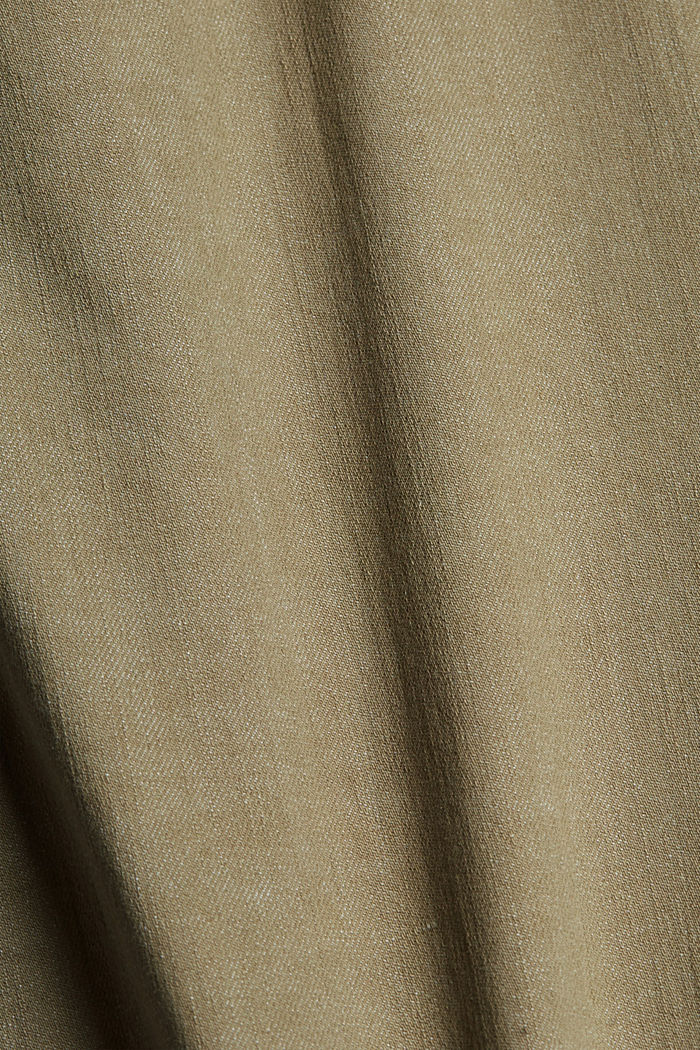 High-waisted trousers with organic cotton, LIGHT KHAKI, detail image number 4