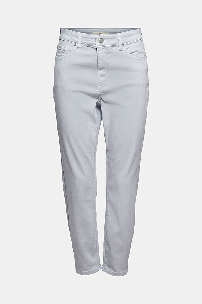 High-waisted trousers with organic cotton, LIGHT BLUE LAVENDER, detail image number 6