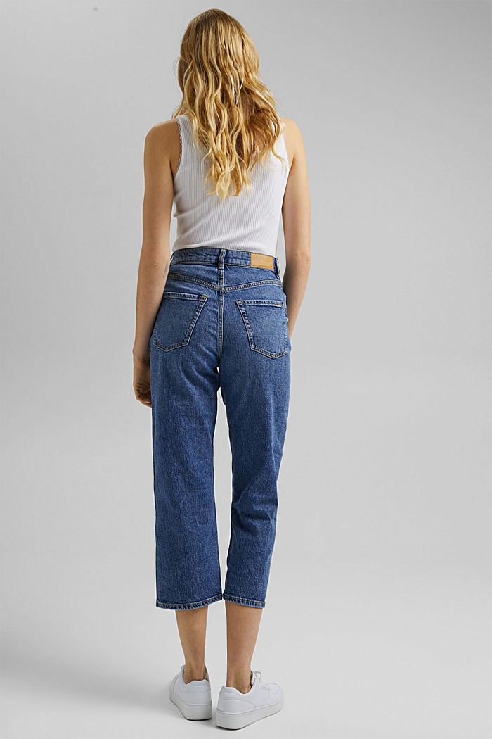 Ankle-length jeans with a straight leg, BLUE MEDIUM WASHED, detail image number 3