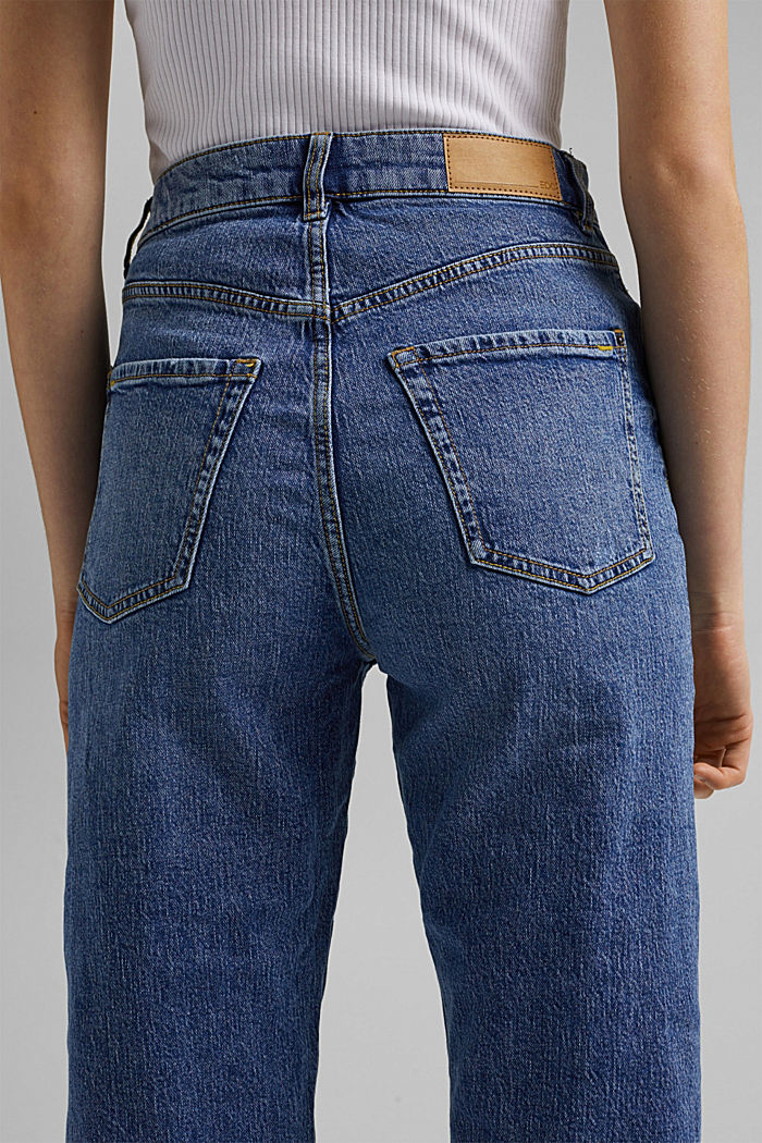 Ankle-length jeans with a straight leg, BLUE MEDIUM WASHED, detail image number 6