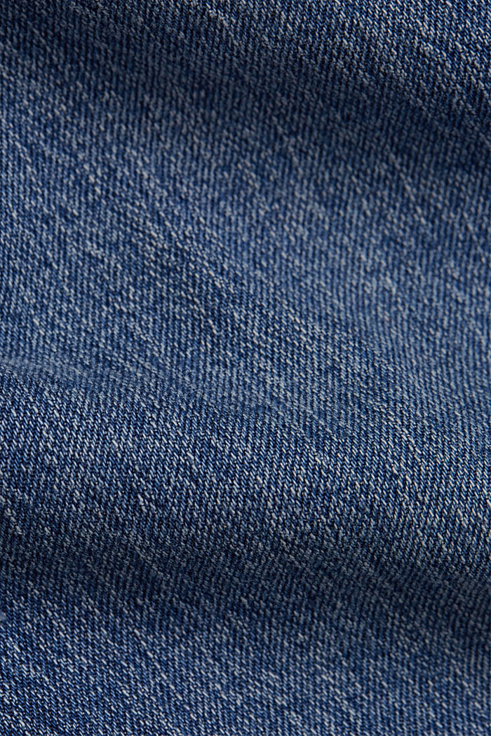 Ankle-length jeans with a straight leg, BLUE MEDIUM WASHED, detail image number 4
