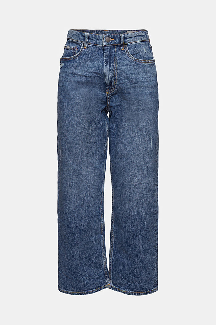 Ankle-length jeans with a straight leg