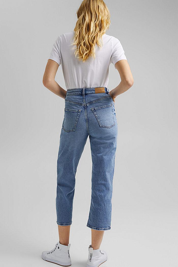 Knöchellange Jeans mit geradem Bein, BLUE LIGHT WASHED, detail image number 3