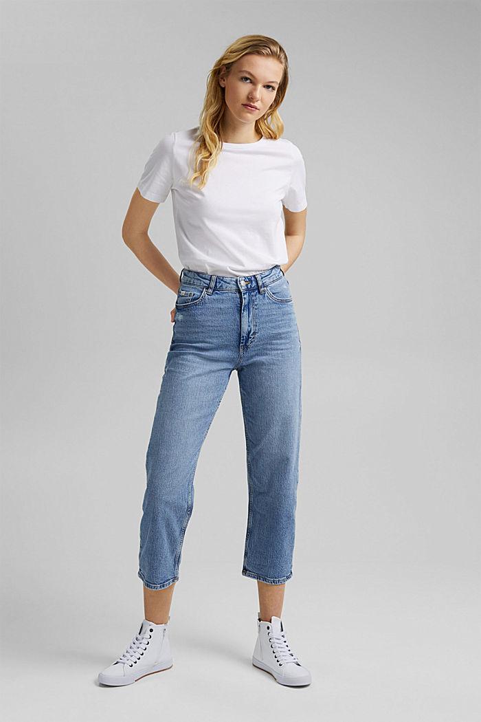 Knöchellange Jeans mit geradem Bein, BLUE LIGHT WASHED, detail image number 6