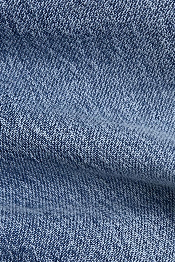 Knöchellange Jeans mit geradem Bein, BLUE LIGHT WASHED, detail image number 4