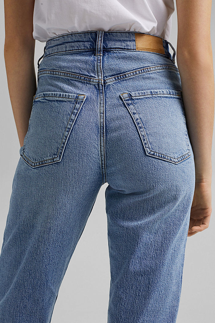 Knöchellange Jeans mit geradem Bein, BLUE LIGHT WASHED, detail image number 5