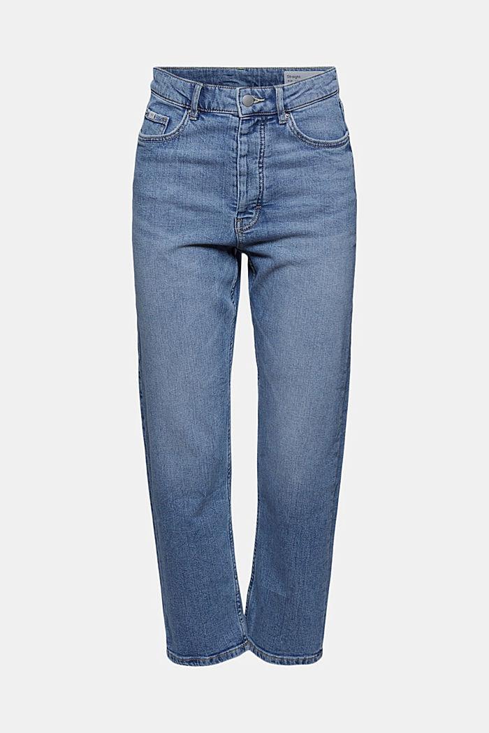 Knöchellange Jeans mit geradem Bein, BLUE LIGHT WASHED, detail image number 7