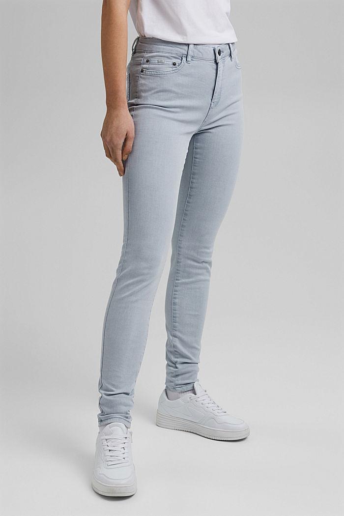 Stretch-Hose aus Organic Cotton, LIGHT BLUE LAVENDER, detail image number 0