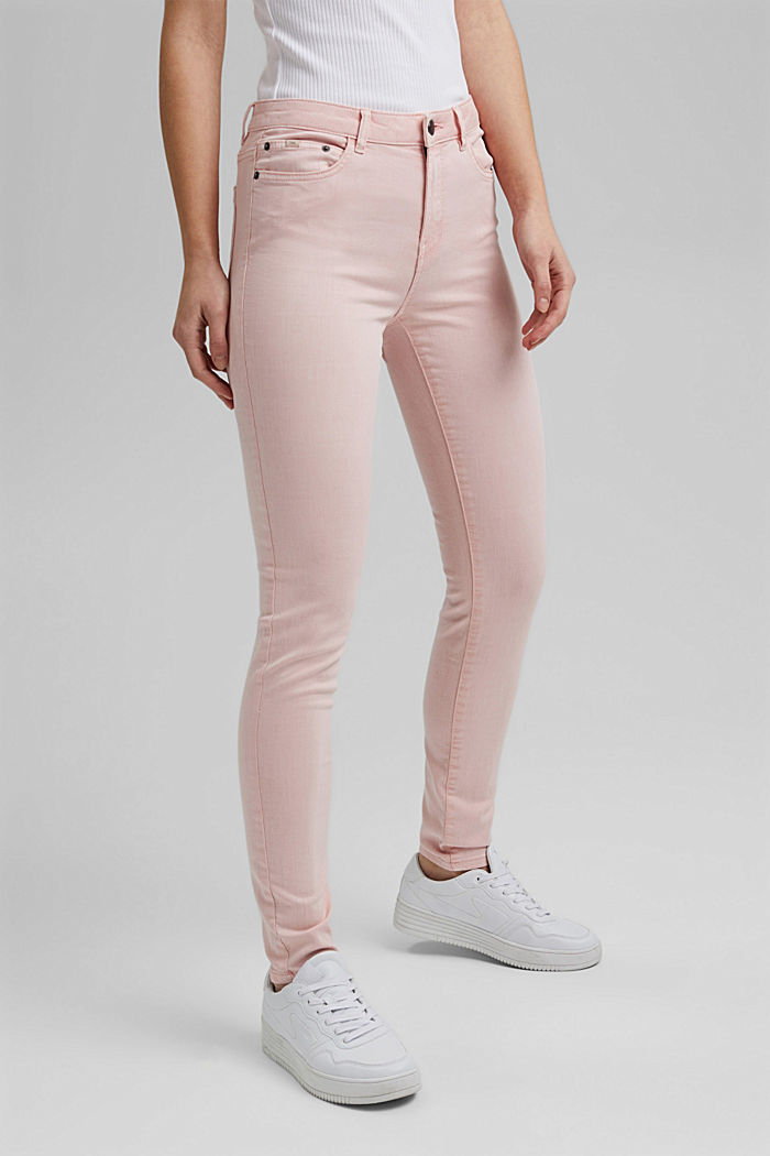 Stretch trousers in organic cotton, LIGHT PINK, detail image number 0