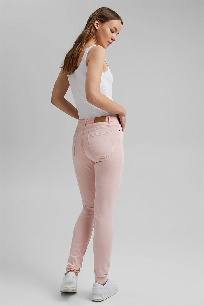 Stretch trousers in organic cotton, LIGHT PINK, detail image number 3