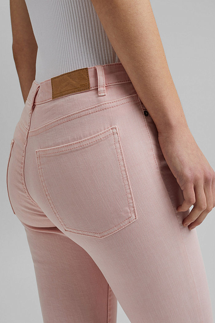 Stretch trousers in organic cotton, LIGHT PINK, detail image number 5
