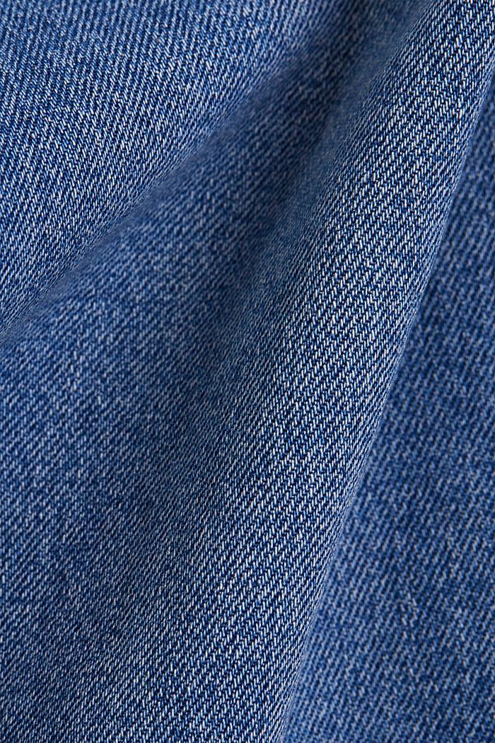 Denim culottes made of organic cotton, BLUE MEDIUM WASHED, detail image number 4