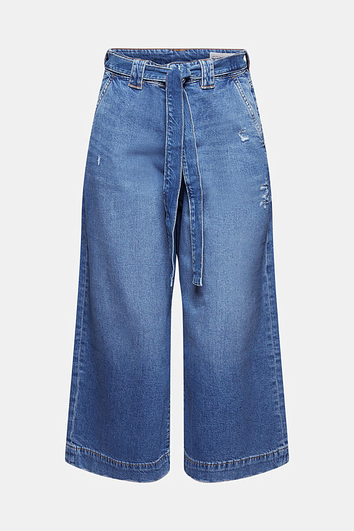 Denim culottes made of organic cotton