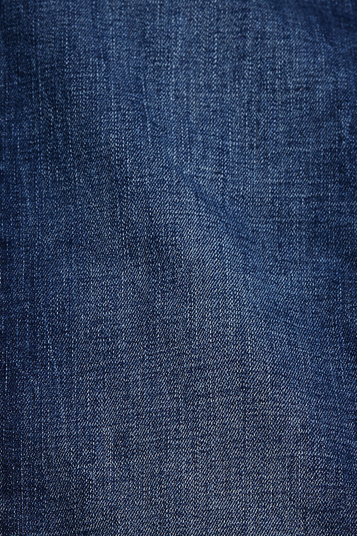 Stretchjeans van biologisch katoen, BLUE DARK WASHED, detail image number 4
