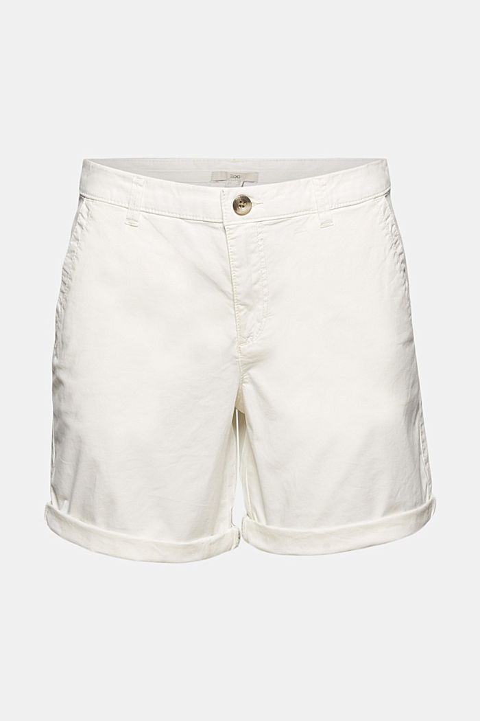 Chino-Shorts aus Organic Cotton, WHITE, overview