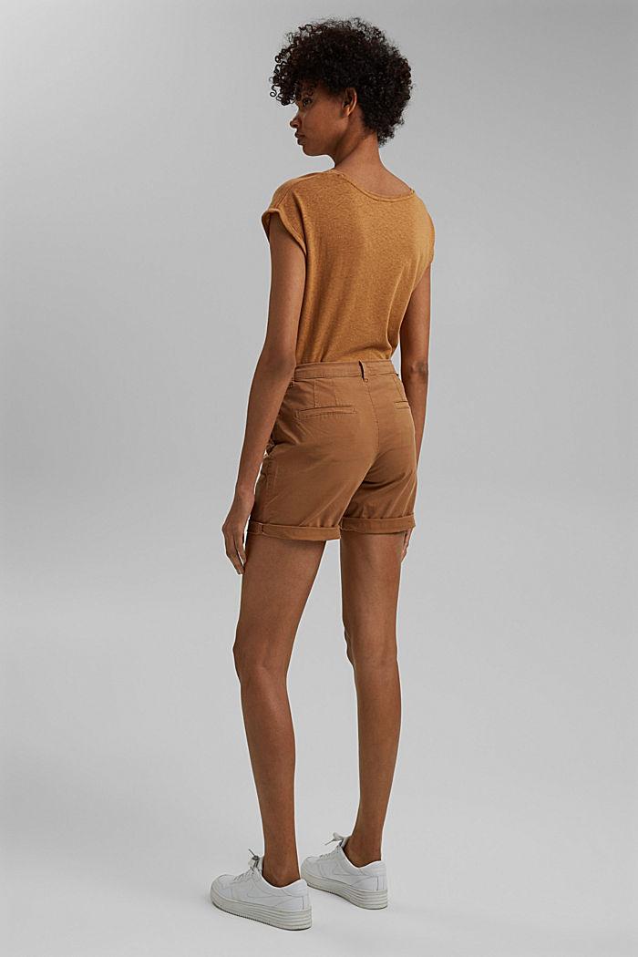 Chino-Shorts aus Organic Cotton, CARAMEL, detail image number 3