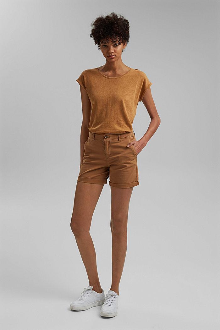 Chino-Shorts aus Organic Cotton, CARAMEL, detail image number 5