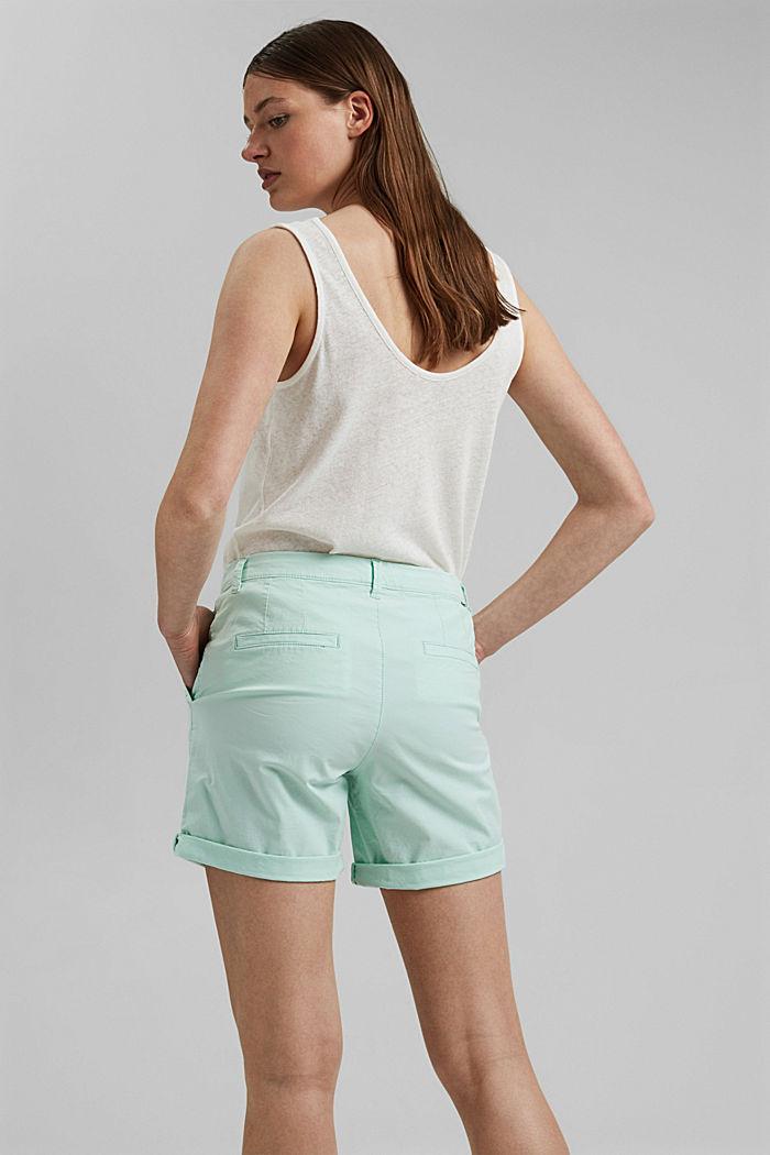Chino-Shorts aus Organic Cotton, PASTEL GREEN, detail image number 3